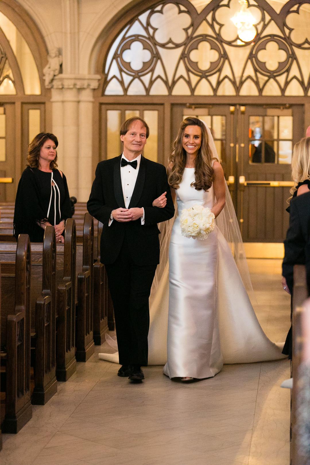 Bridal Entrance Saint James Chapel Chicago Wedding Emilia Jane Photography