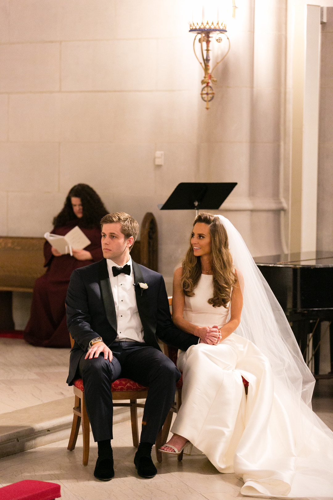 Cathedral Length Veil Saint James Chapel Chicago Wedding Emilia Jane Photography
