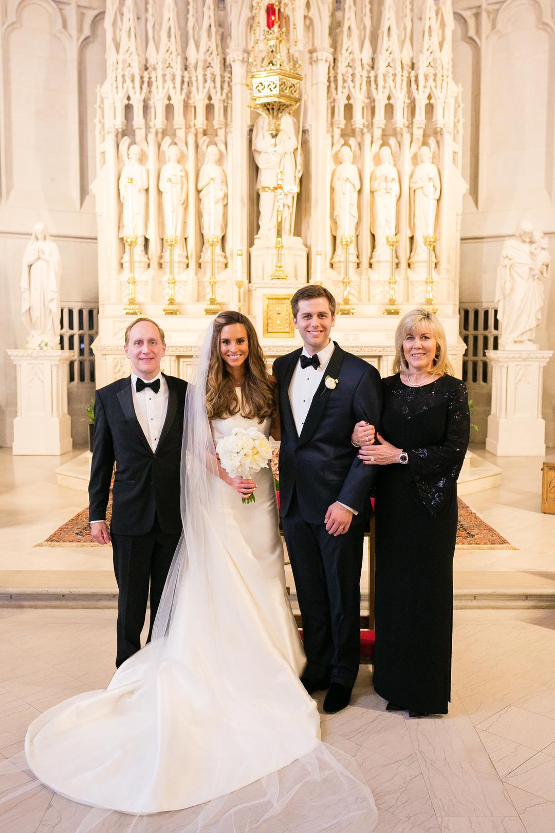 Cathedral Length Veil Bridal Portrait Saint James Chapel Chicago Wedding Emilia Jane Photography