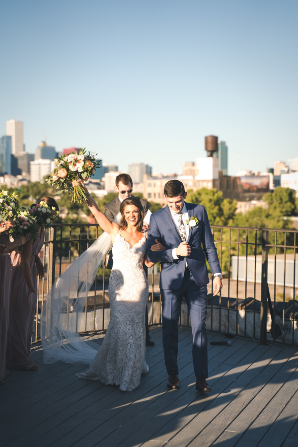 Modern, industrial Chicago wedding at Lacuna Loft captured by Windy City Productions. Visit CHItheeWED.com for more wedding inspiration!