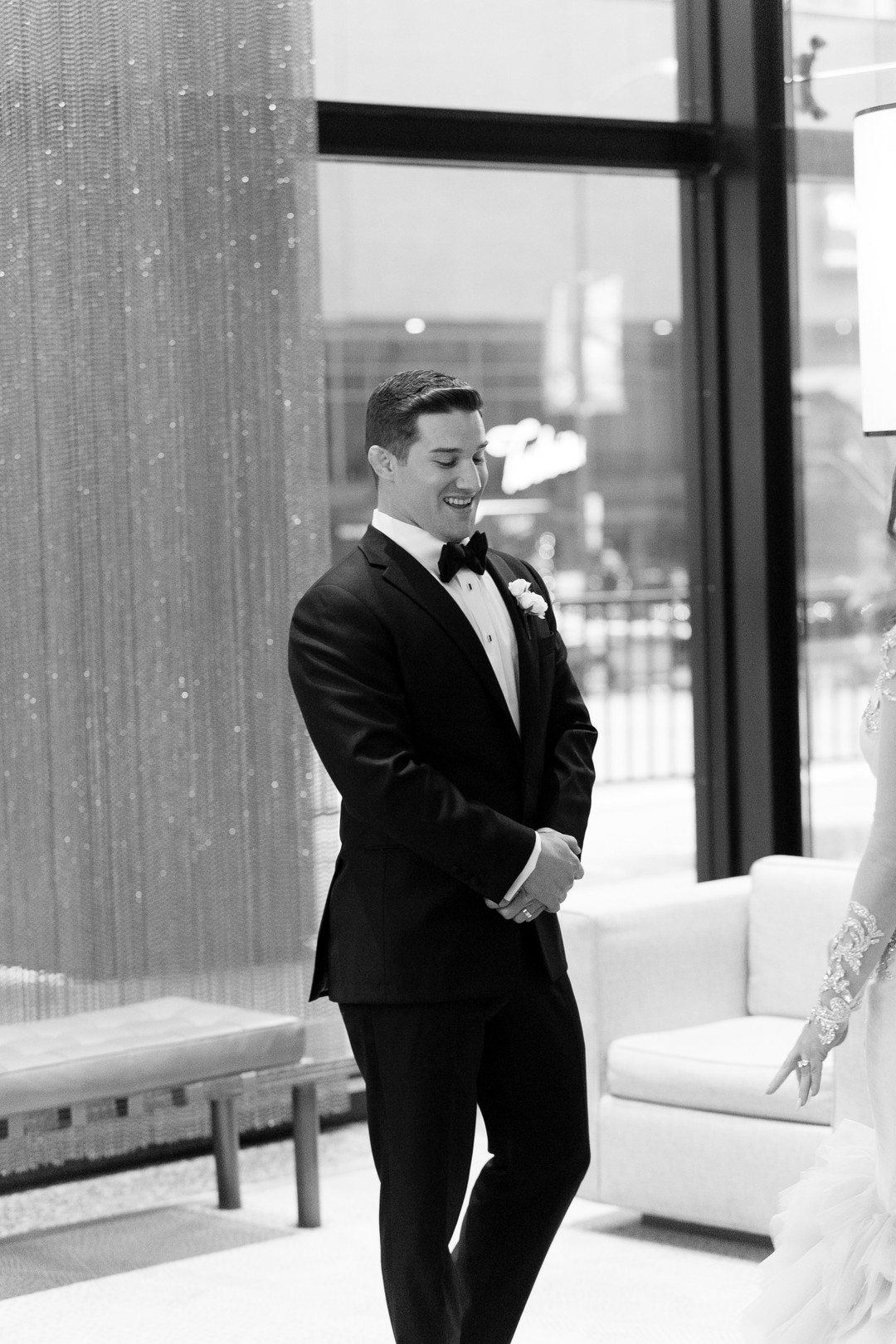 Glamorous and elegant all-white winter Chicago wedding. Be inspired and find more wedding inspiration at CHItheeWED.com!