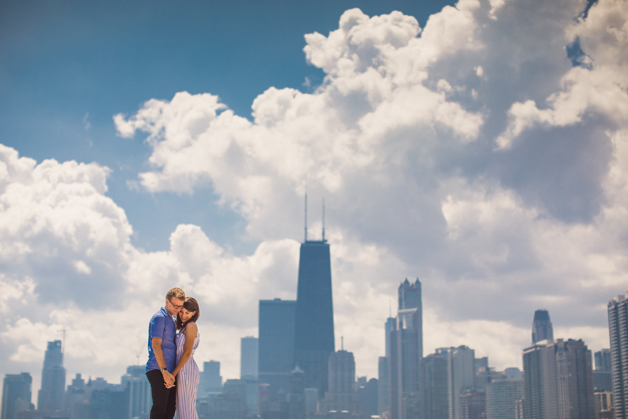 Fun and colorful Chicago engagement photo session captured by Henington Photography. See more engagement photo ideas at CHItheeWED.com!