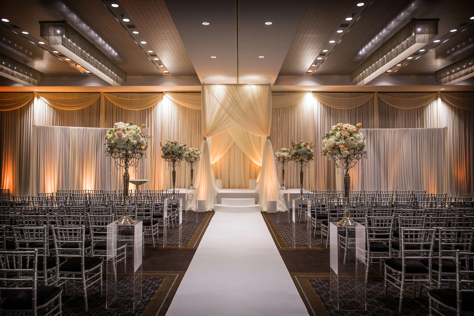 Luxurious winter wedding at Hotel Arista in Naperville, IL captured by Jason Kaczorowski Photography. See more winter wedding ideas at CHItheeWED.com!