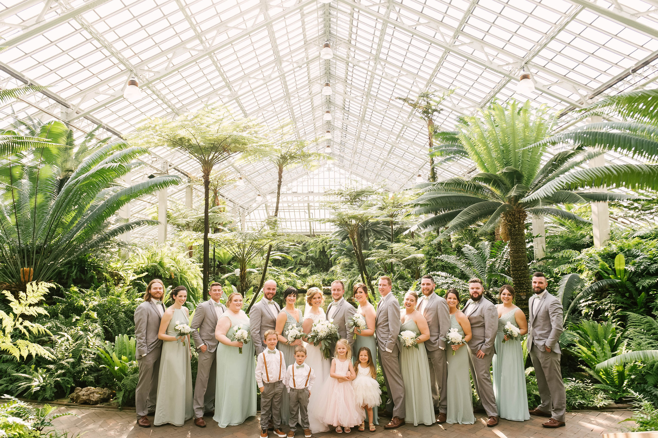 Garfield Park Conservatory Wedding.Amanda Joe S Romantic Greenhouse Wedding At Garfield Park