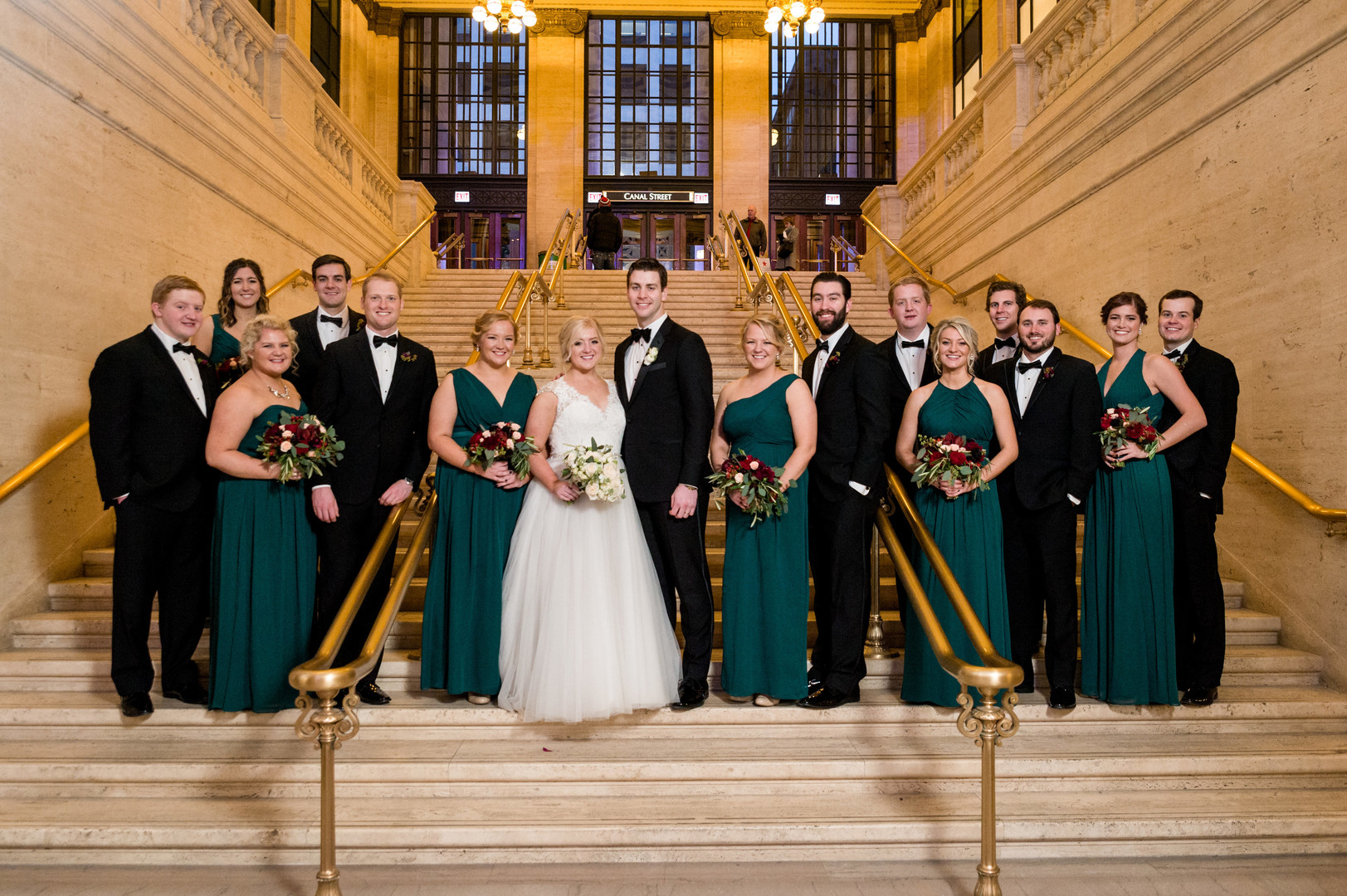 Romantic Chicago winter wedding with Christmas colors captured by Julia Franzosa Photography. See more winter wedding ideas at CHItheeWED.com!