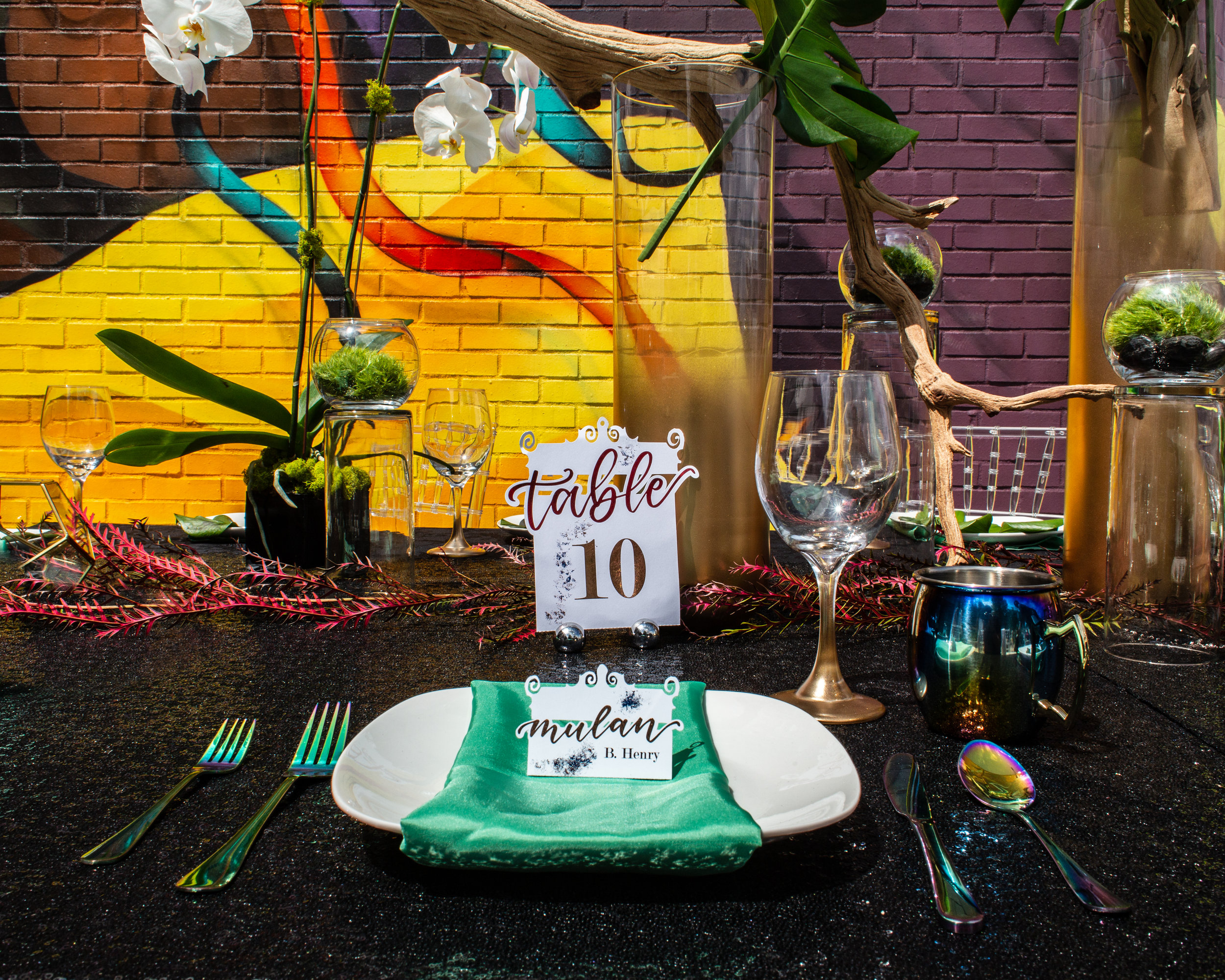 Bold and colorful Chicago wedding styled shoot. See more unique wedding ideas at CHItheeWED.com!