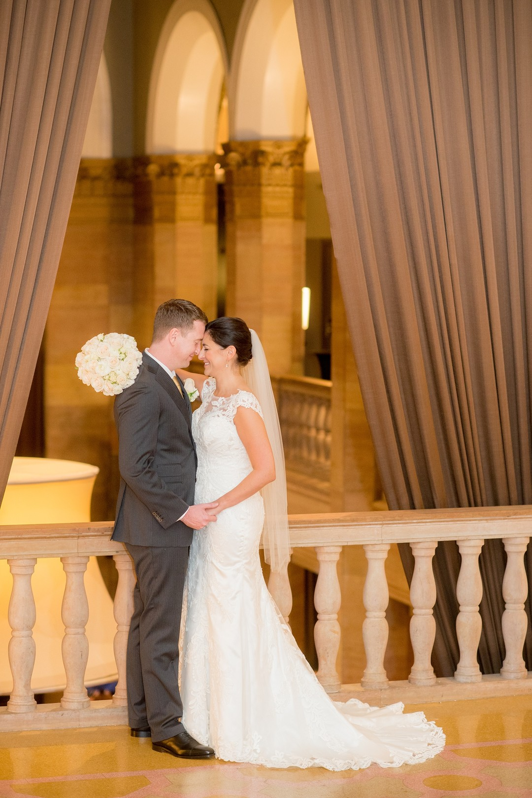 Romantic downtown Chicago wedding at The Rookery captured by Mikkel Paige Photography. See more Chicago wedding ideas at CHItheeWED.com!