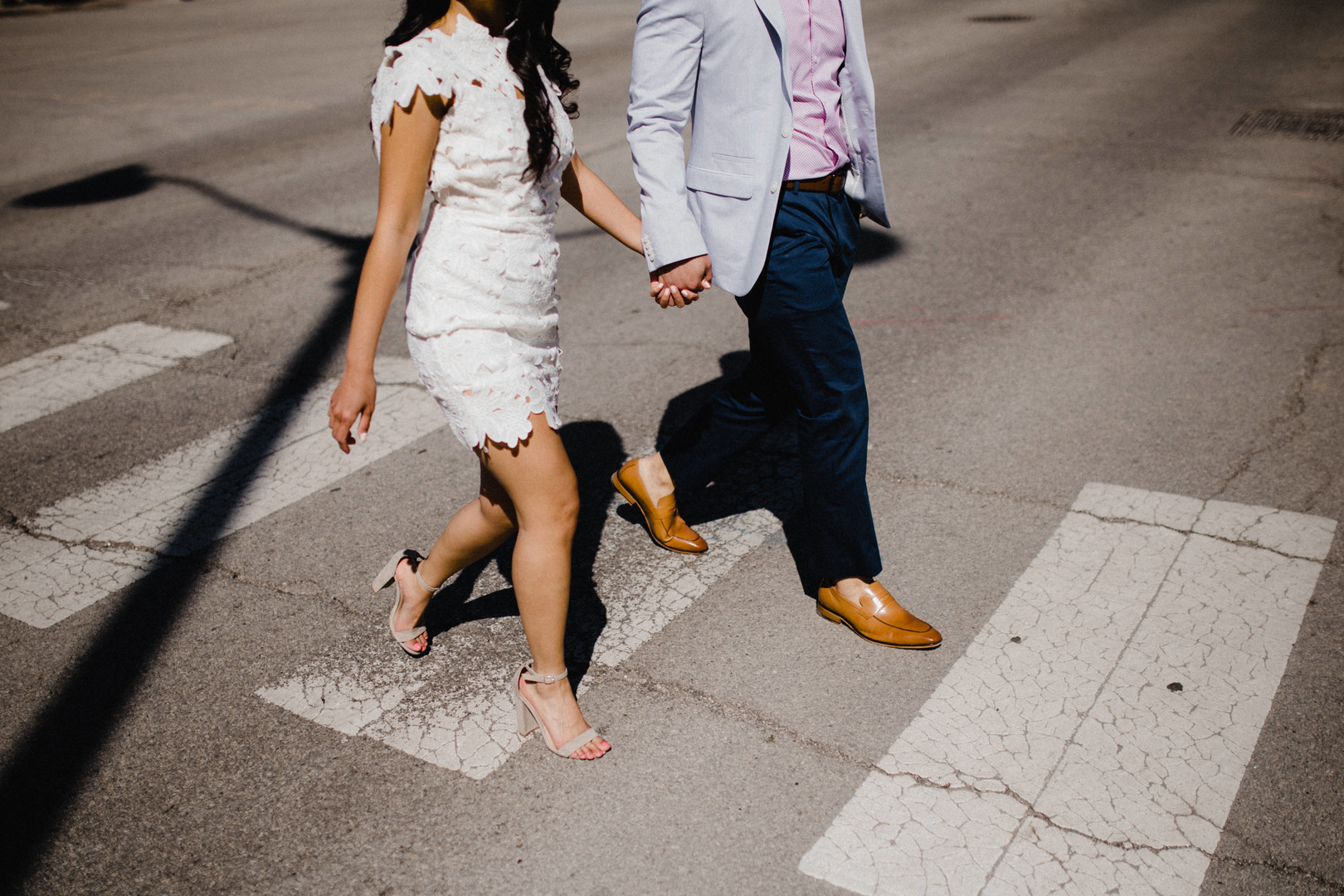 Surprise downtown Chicago engagement session captured by Robyn & Finch Photography. Find more wedding engagement and proposal ideas at CHItheeWED.com!