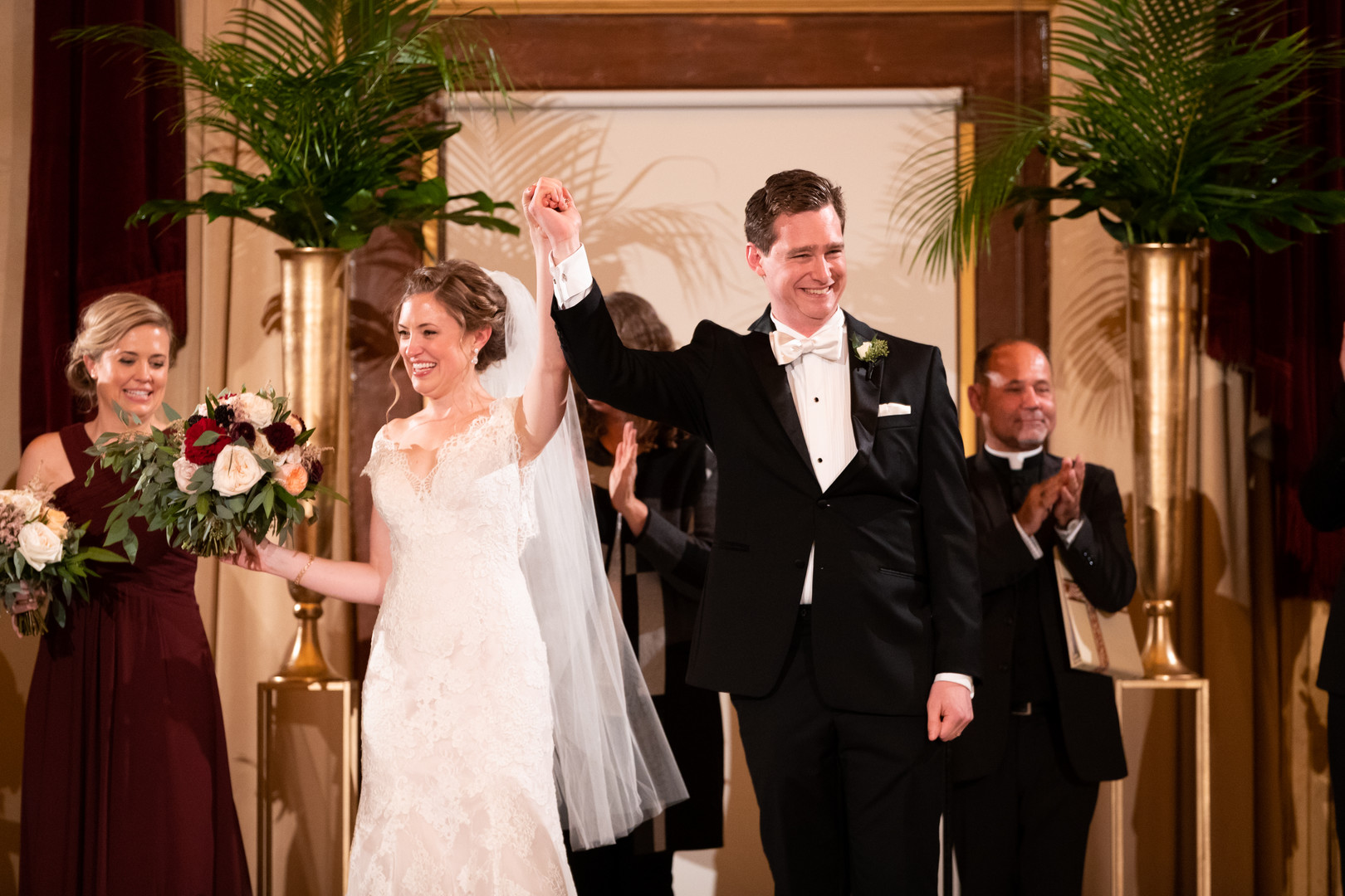 School of the Art Institute downtown Chicago wedding inspiration captured by Candice C. Cusic Photography and planned by Clementine Custom Events. See more Chicago wedding ideas at CHItheeWED.com!