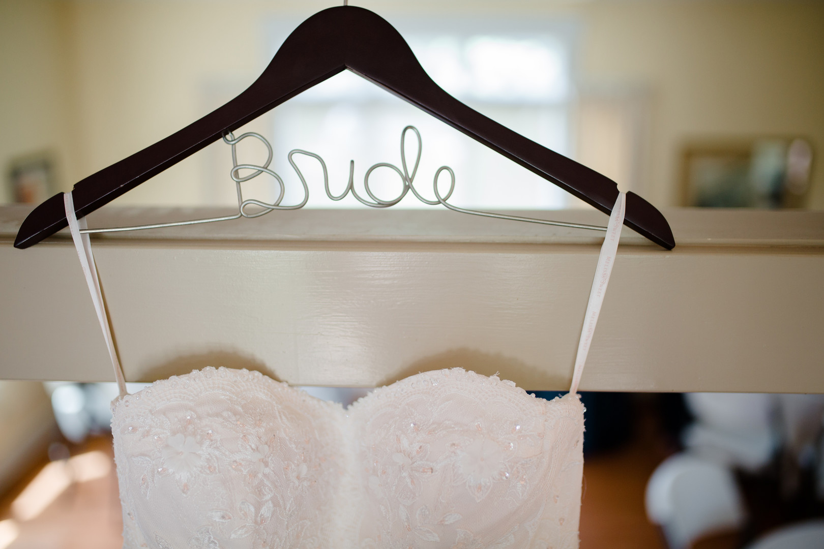 Bride Hanger: Rustic country wedding in Minooka, IL captured by Katie Brsan Photography. Visit CHItheeWED.com for more wedding inspiration!