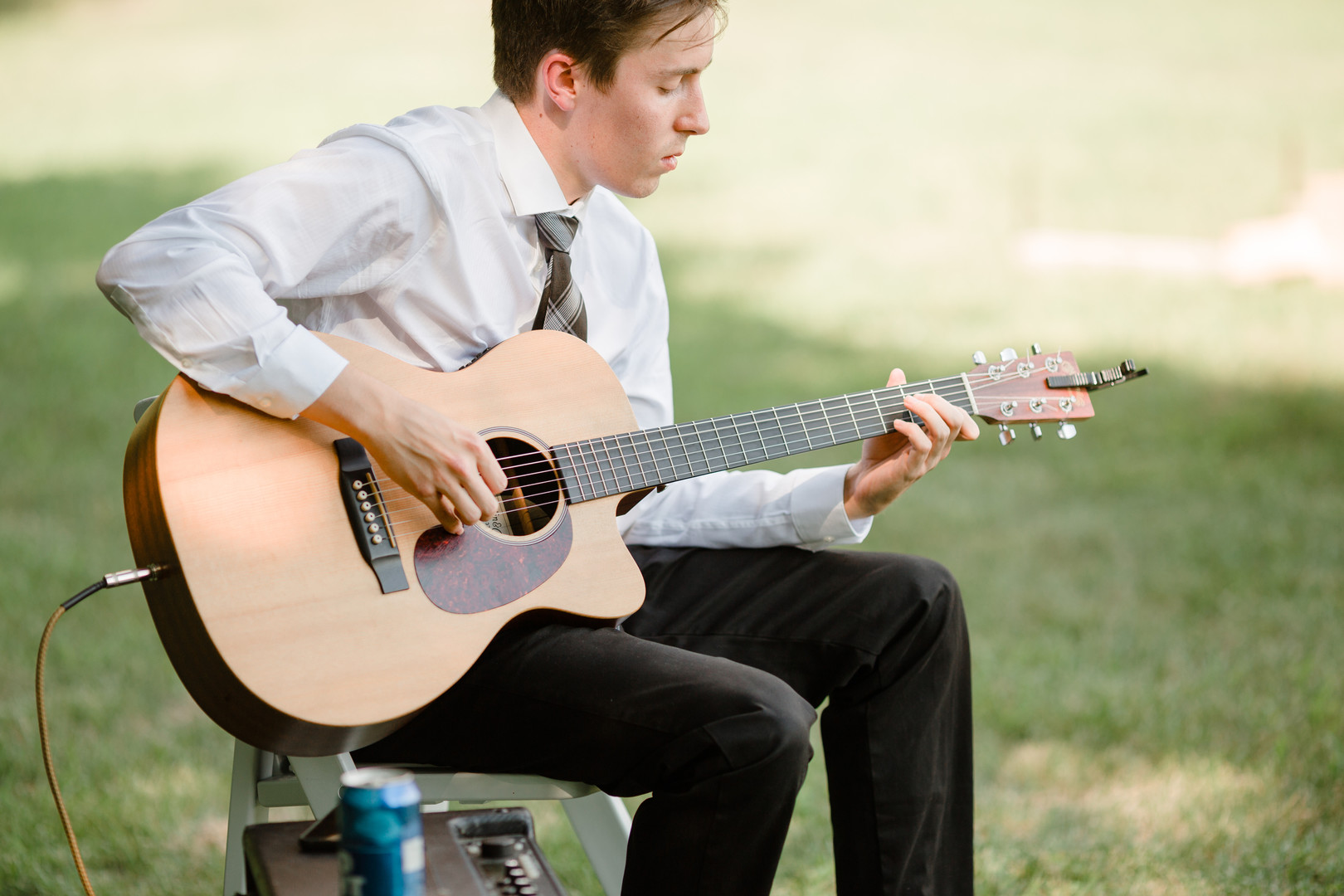 Wedding musician: Rustic country wedding in Minooka, IL captured by Katie Brsan Photography. Visit CHItheeWED.com for more wedding inspiration!