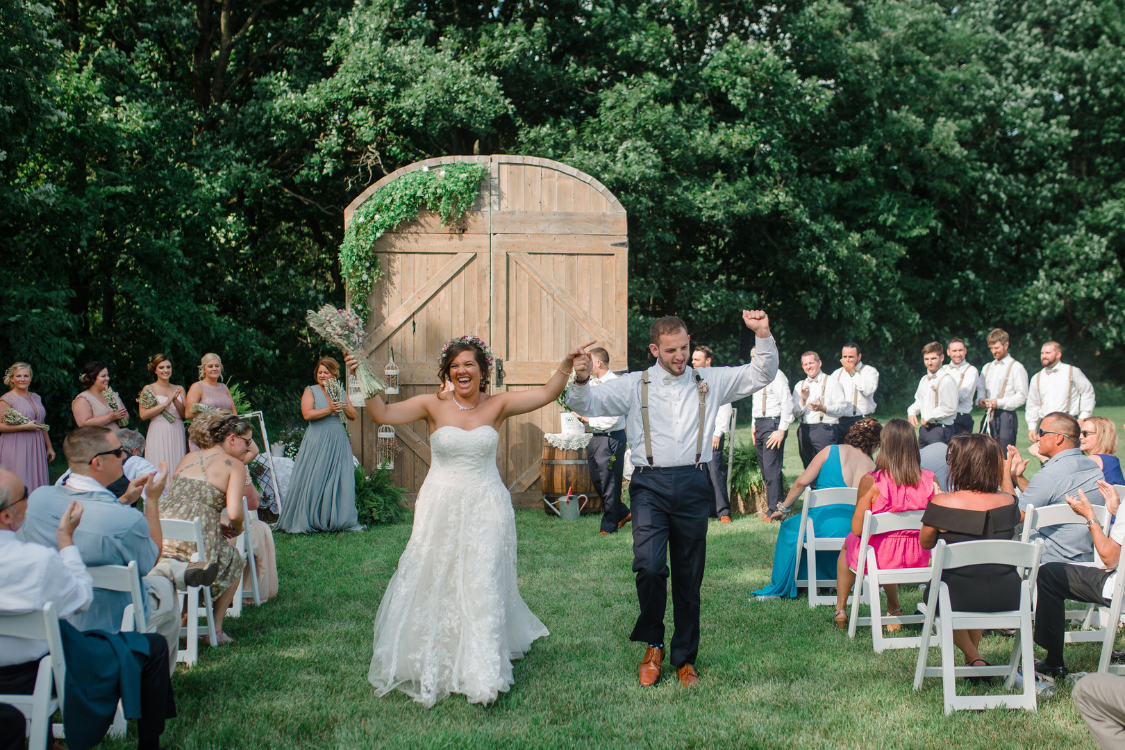 Just married: Rustic country wedding in Minooka, IL captured by Katie Brsan Photography. Visit CHItheeWED.com for more wedding inspiration!