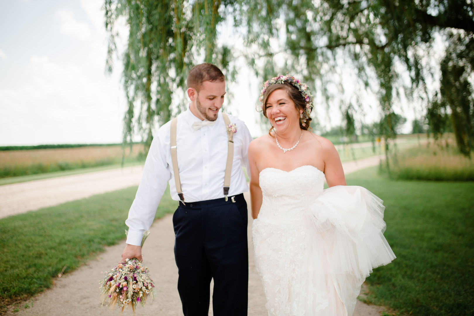 Outdoor wedding photos: Rustic country wedding in Minooka, IL captured by Katie Brsan Photography. Visit CHItheeWED.com for more wedding inspiration!