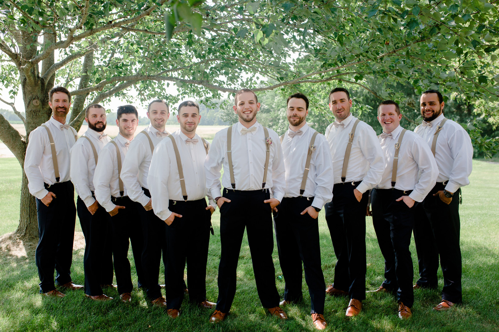 Groomsmen attire: Rustic country wedding in Minooka, IL captured by Katie Brsan Photography. Visit CHItheeWED.com for more wedding inspiration!