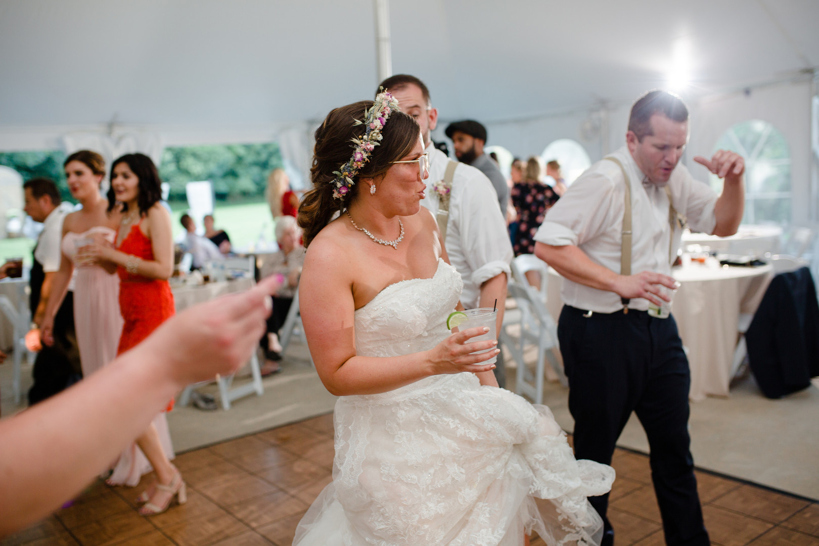 Bride dancing: Rustic country wedding in Minooka, IL captured by Katie Brsan Photography. Visit CHItheeWED.com for more wedding inspiration!