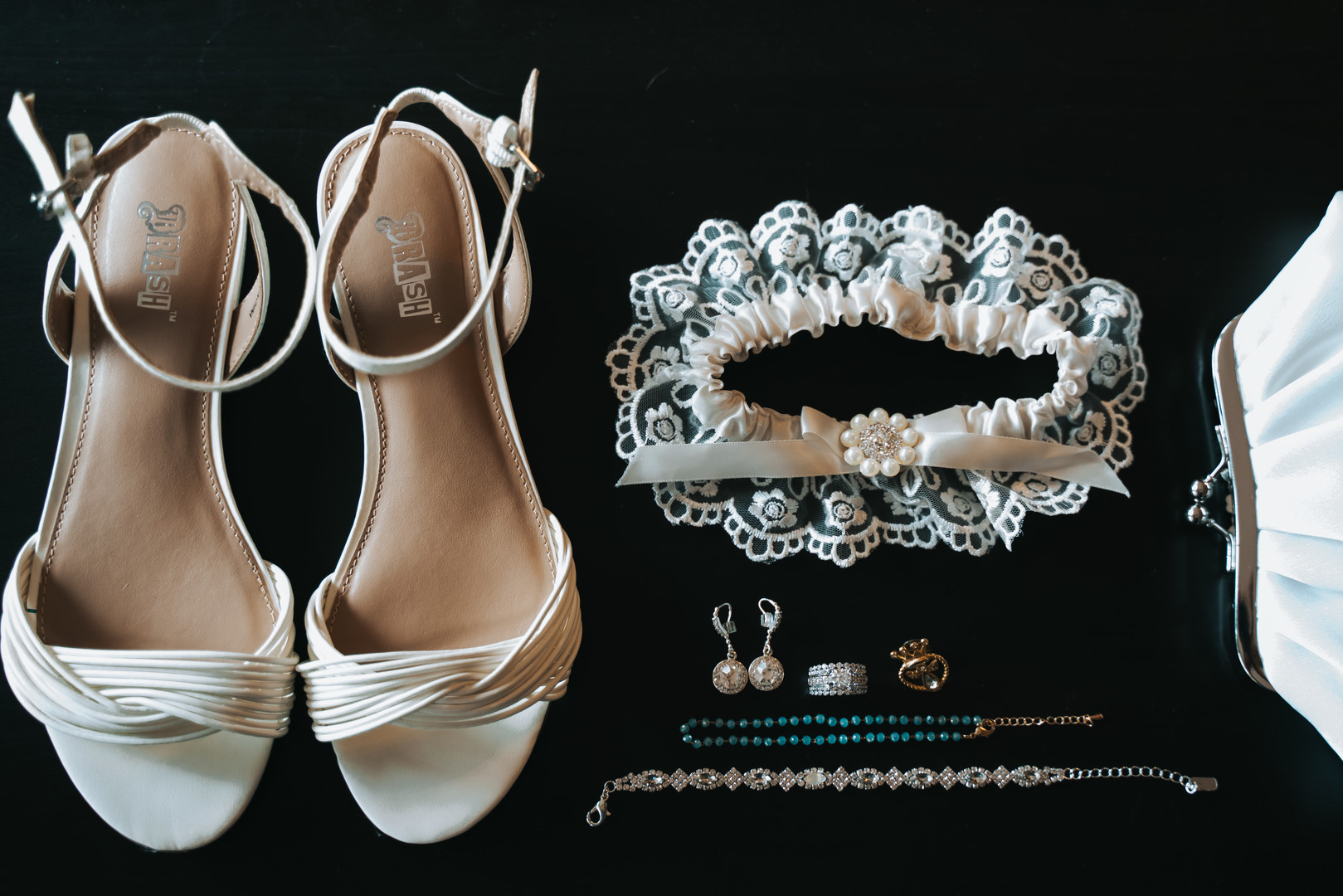 Bridal shoes and accessories: Beautiful Illinois wedding at Riverside Receptions captured by Windy City Production. See more wedding ideas at CHItheeWED.com!