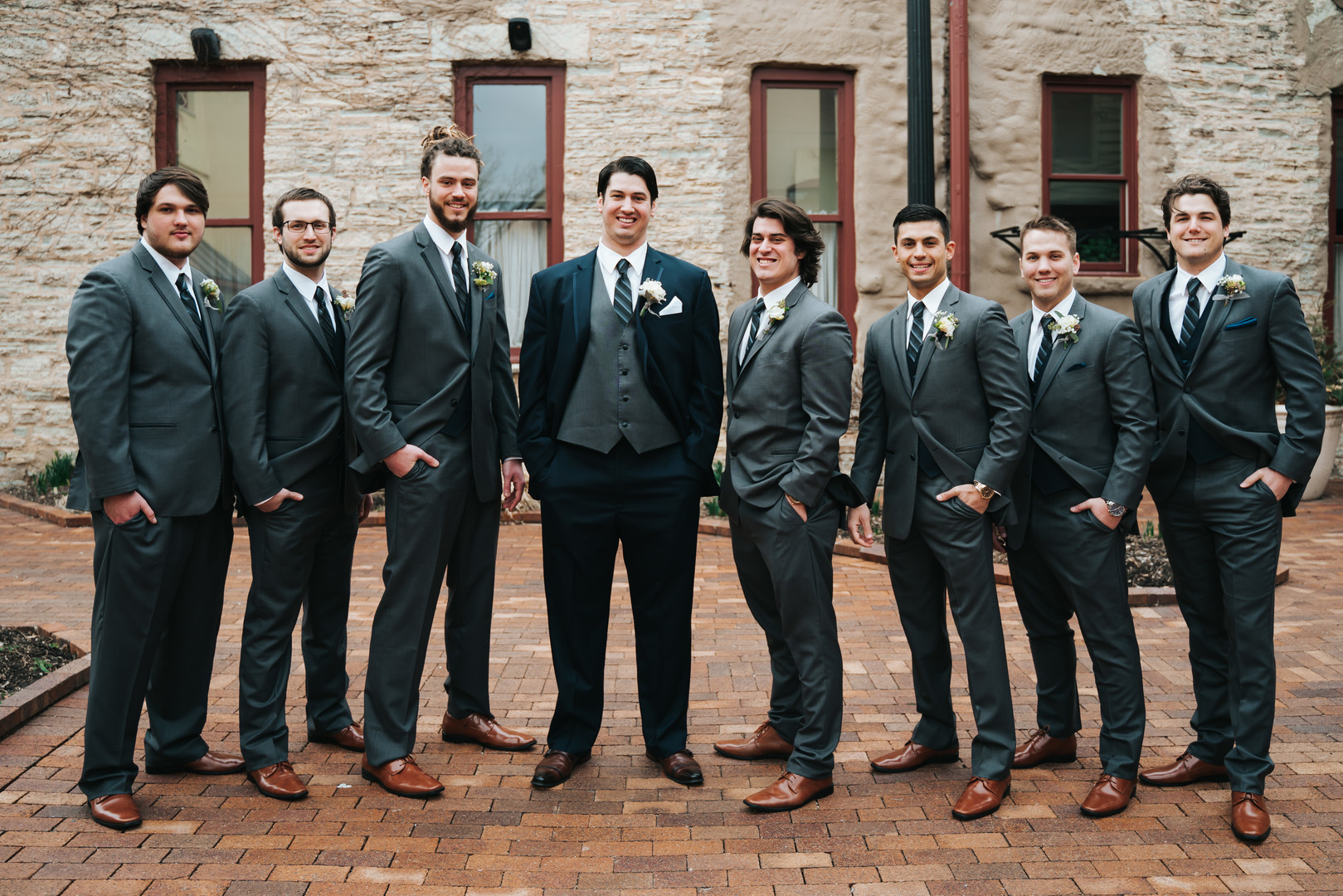 Grooms and groomsmen attire: Beautiful Illinois wedding at Riverside Receptions captured by Windy City Production. See more wedding ideas at CHItheeWED.com!
