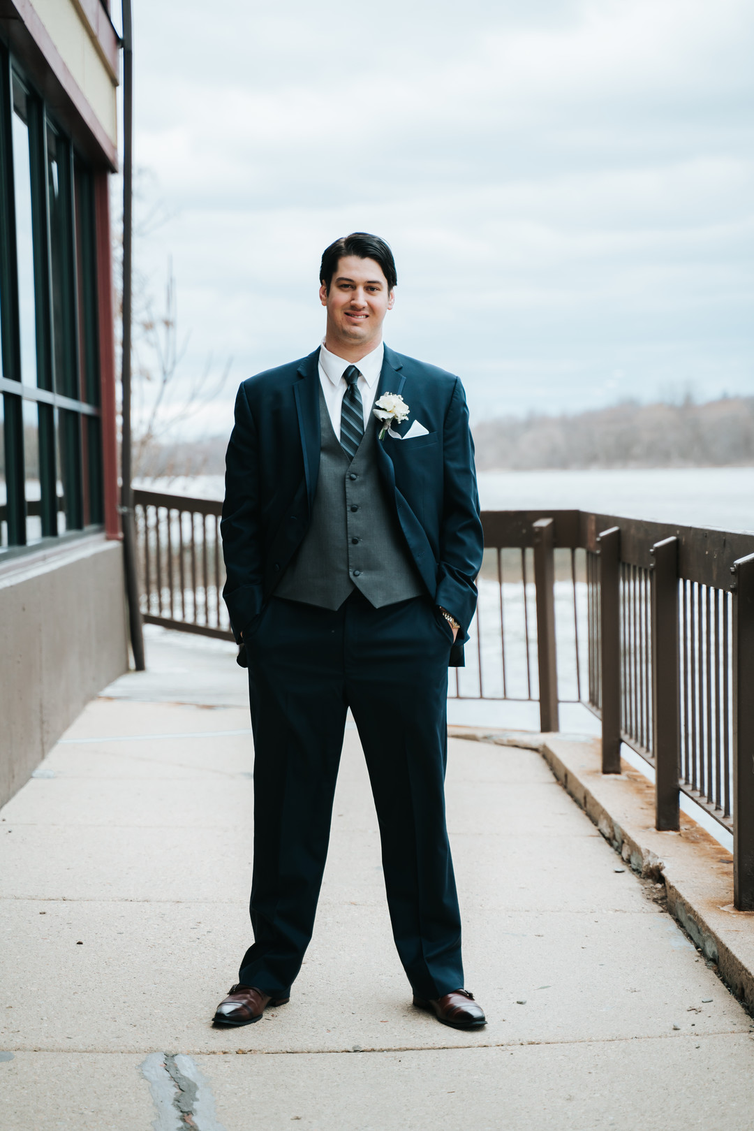 Grooms portrait: Beautiful Illinois wedding at Riverside Receptions captured by Windy City Production. See more wedding ideas at CHItheeWED.com!
