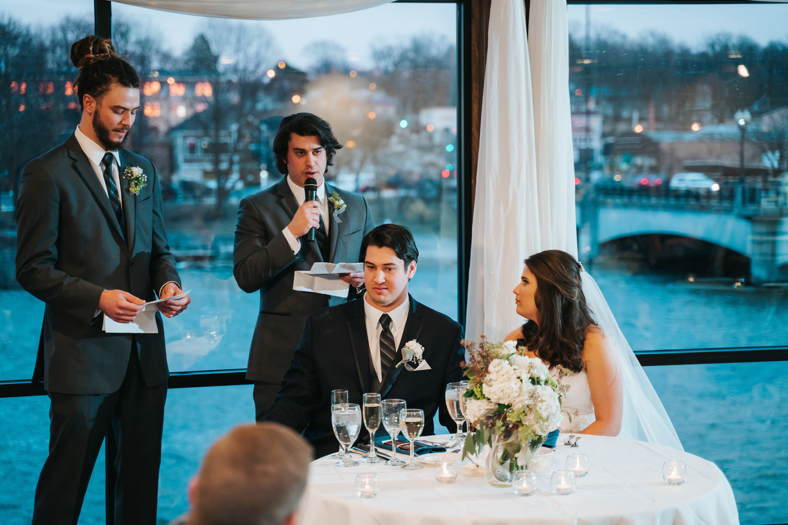 Best man speeches: Beautiful Illinois wedding at Riverside Receptions captured by Windy City Production. See more wedding ideas at CHItheeWED.com!