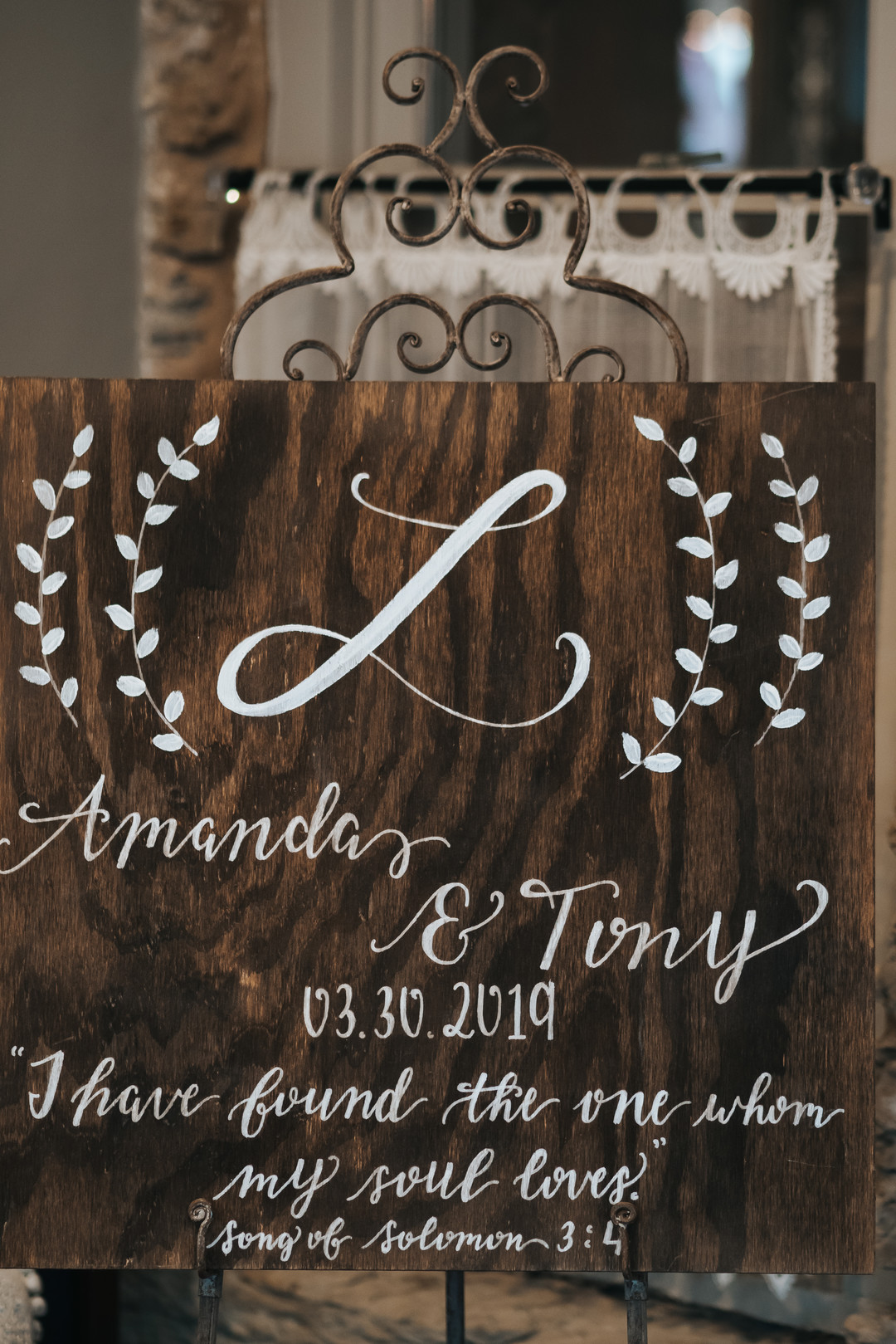 Wedding sign: Beautiful Illinois wedding at Riverside Receptions captured by Windy City Production. See more wedding ideas at CHItheeWED.com!