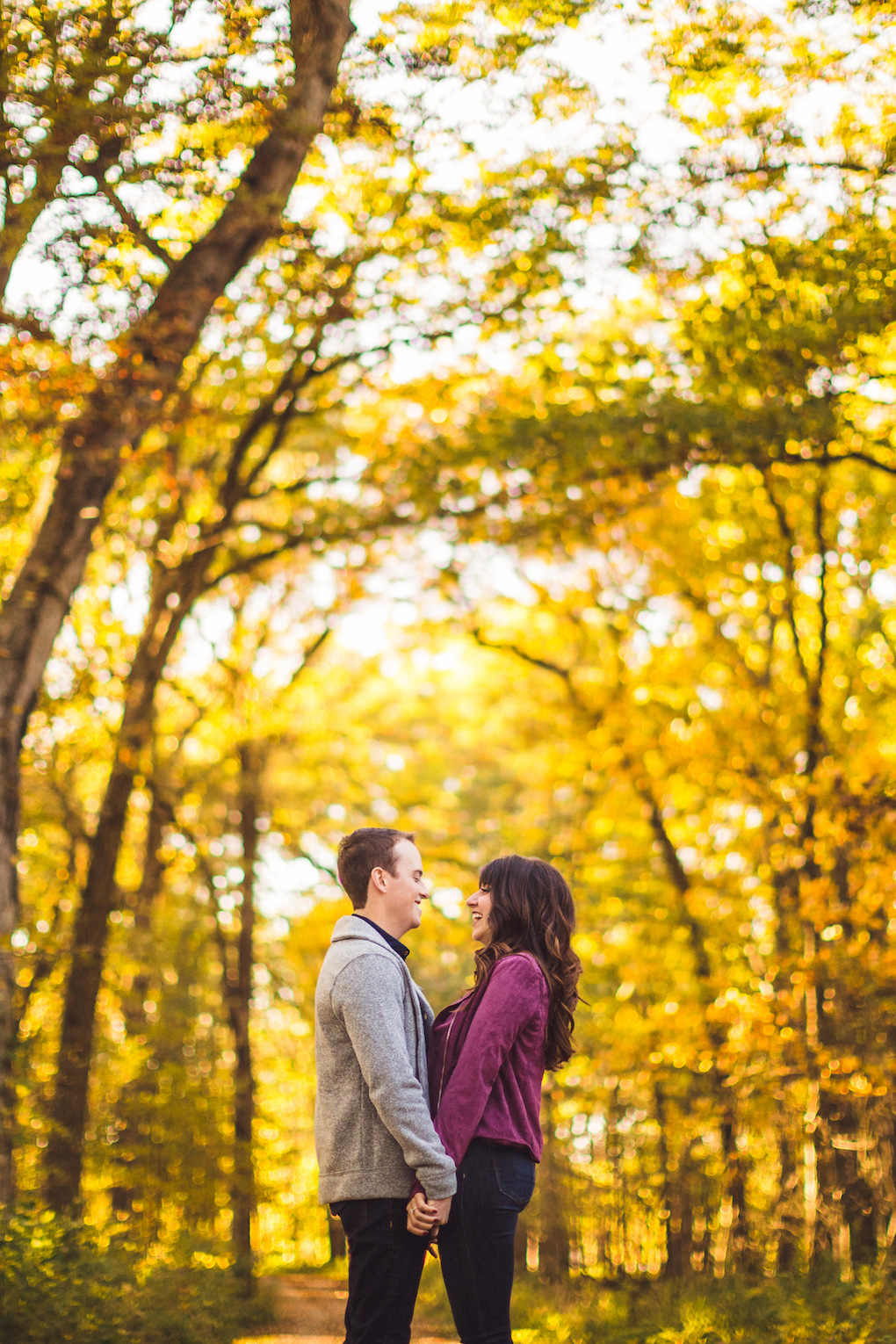 Busse Woods engagement photo session captured by Henington Photography. See more engagement photo ideas at CHItheeWED.com!