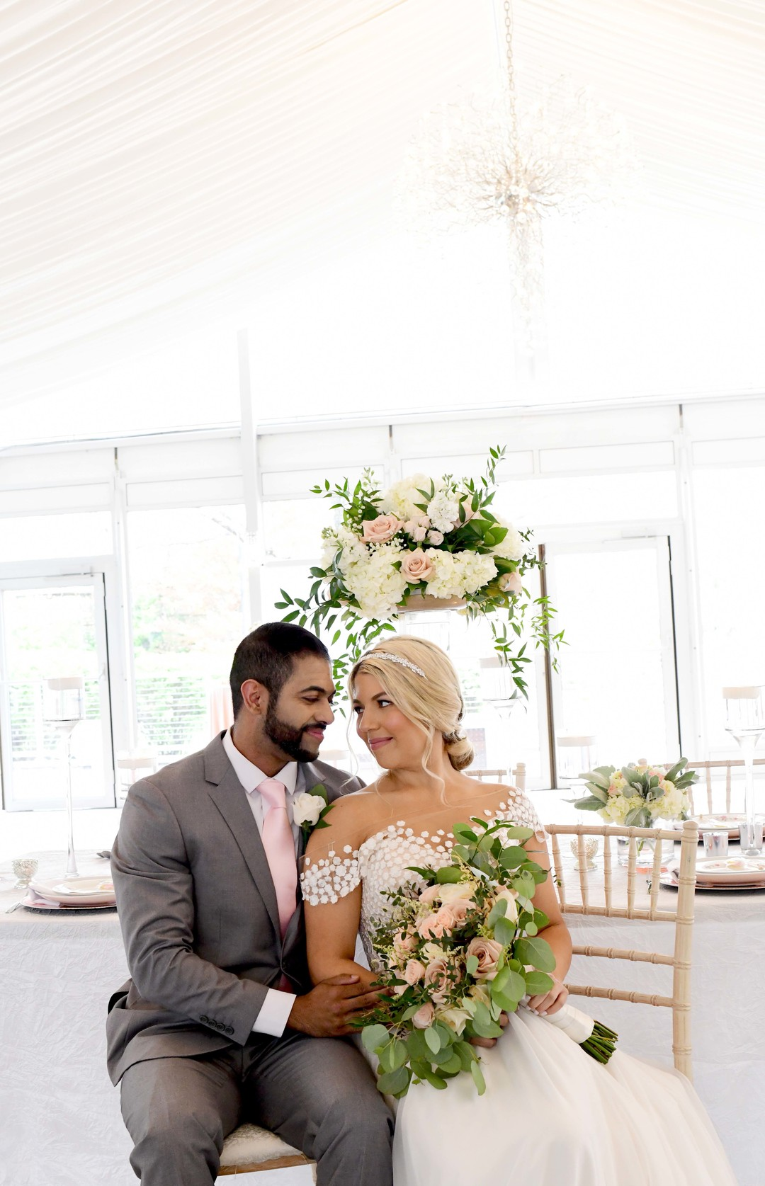 Romantic ivory and rose gold wedding inspiration captured by Lori Sapio. See more elegant wedding ideas at CHItheeWED.com!