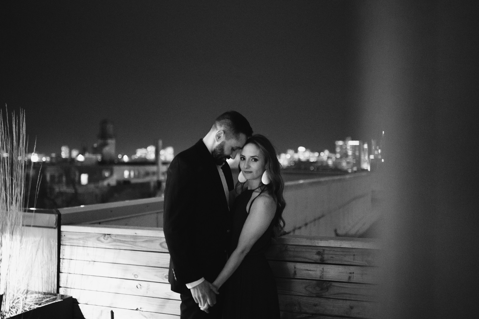 Evening Chicago engagement session captured by Robyn and Finch. See more engagement photo ideas on CHItheeWED.com!