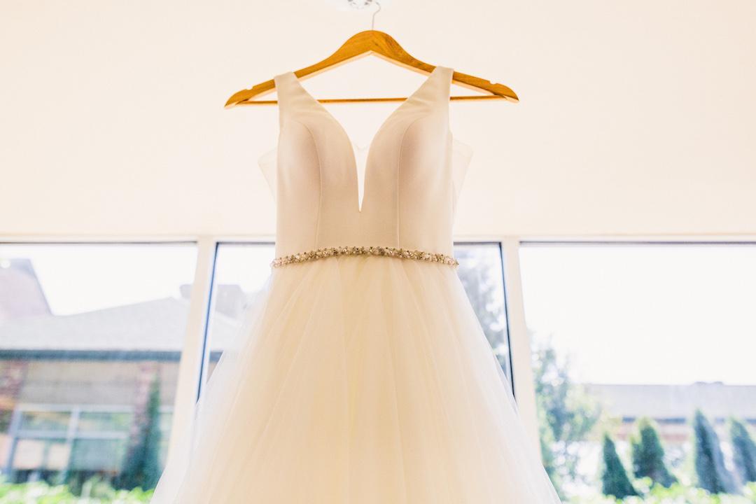 Wedding dress: Elegant country club wedding captured by Henington Photography. See more elegant wedding ideas at CHItheeWED.com!