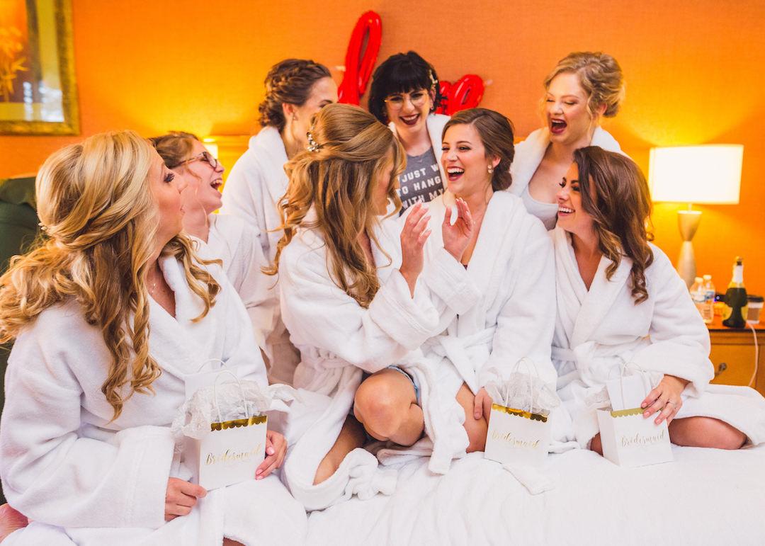 Bridal party photo ideas: Elegant country club wedding captured by Henington Photography. See more elegant wedding ideas at CHItheeWED.com!