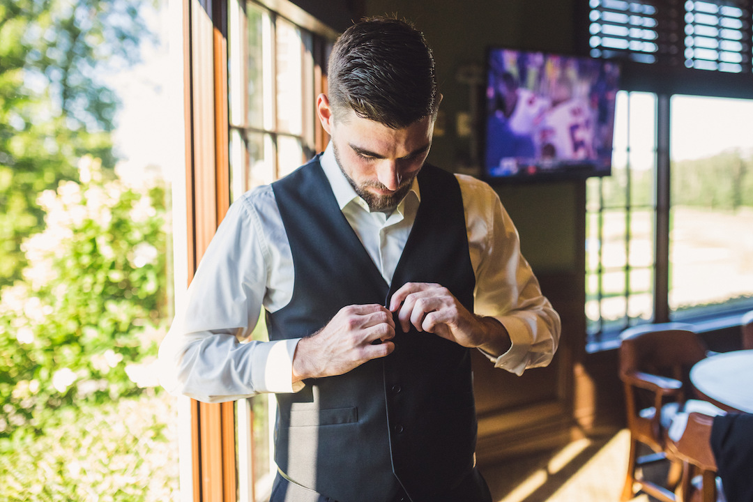 Grooms attire: Elegant country club wedding captured by Henington Photography. See more elegant wedding ideas at CHItheeWED.com!