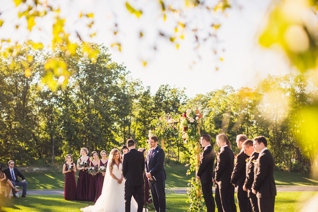 Outdoor wedding ceremony: Elegant country club wedding captured by Henington Photography. See more elegant wedding ideas at CHItheeWED.com!