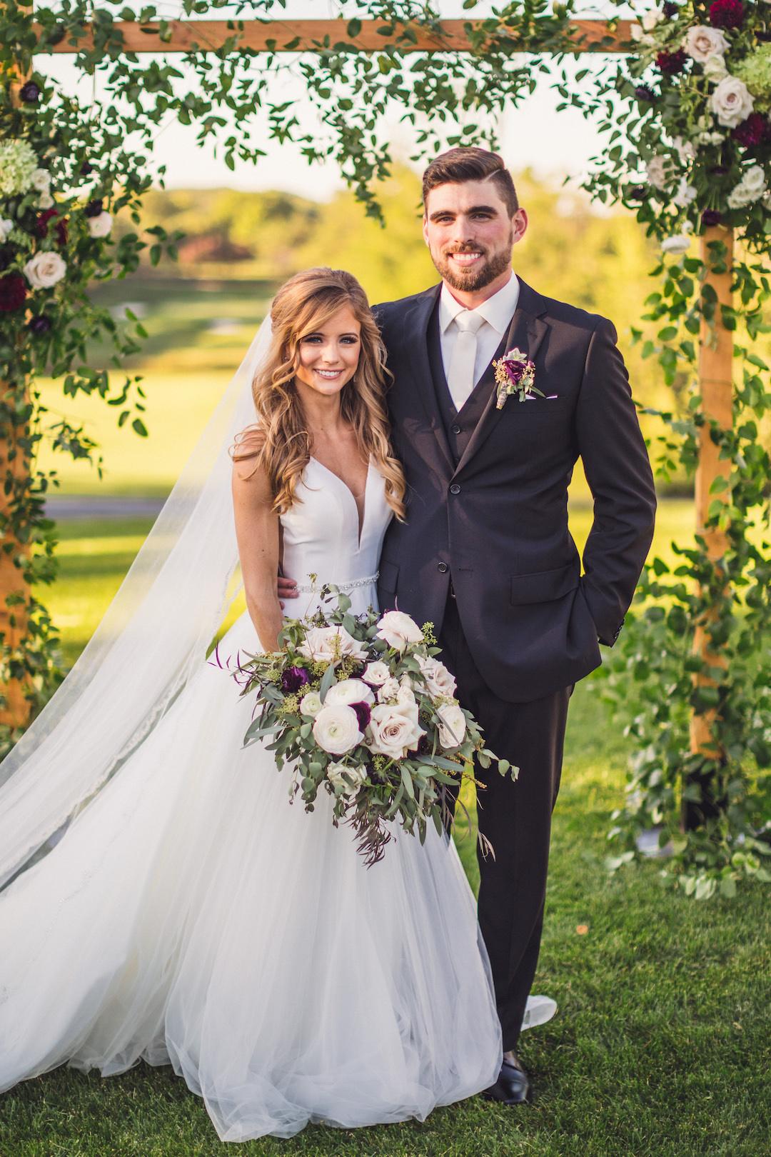 Wedding portrait: Elegant country club wedding captured by Henington Photography. See more elegant wedding ideas at CHItheeWED.com!