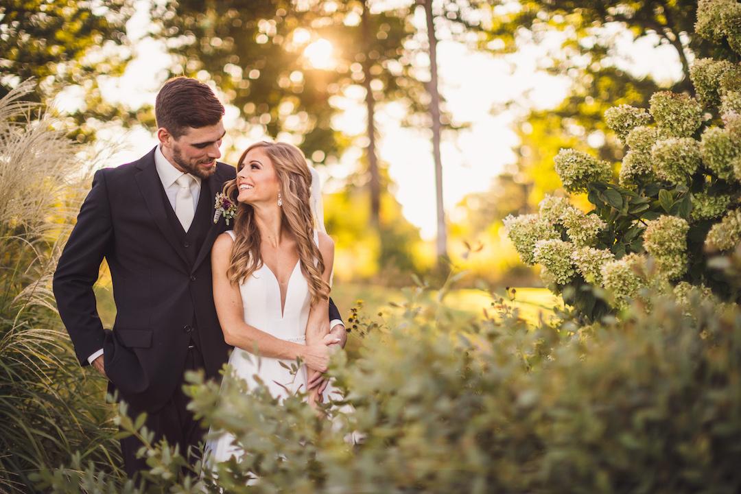 Outdoor wedding portrait: Elegant country club wedding captured by Henington Photography. See more elegant wedding ideas at CHItheeWED.com!