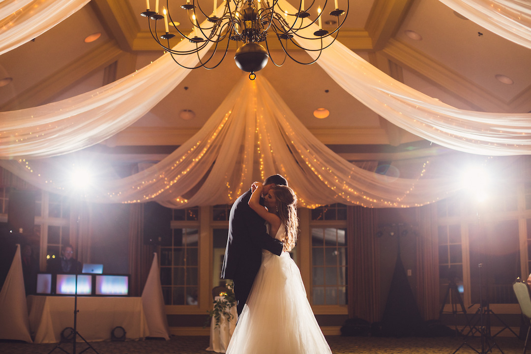 Wedding first dance: Elegant country club wedding captured by Henington Photography. See more elegant wedding ideas at CHItheeWED.com!