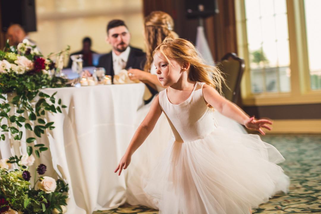 Flower girl dress: Elegant country club wedding captured by Henington Photography. See more elegant wedding ideas at CHItheeWED.com!