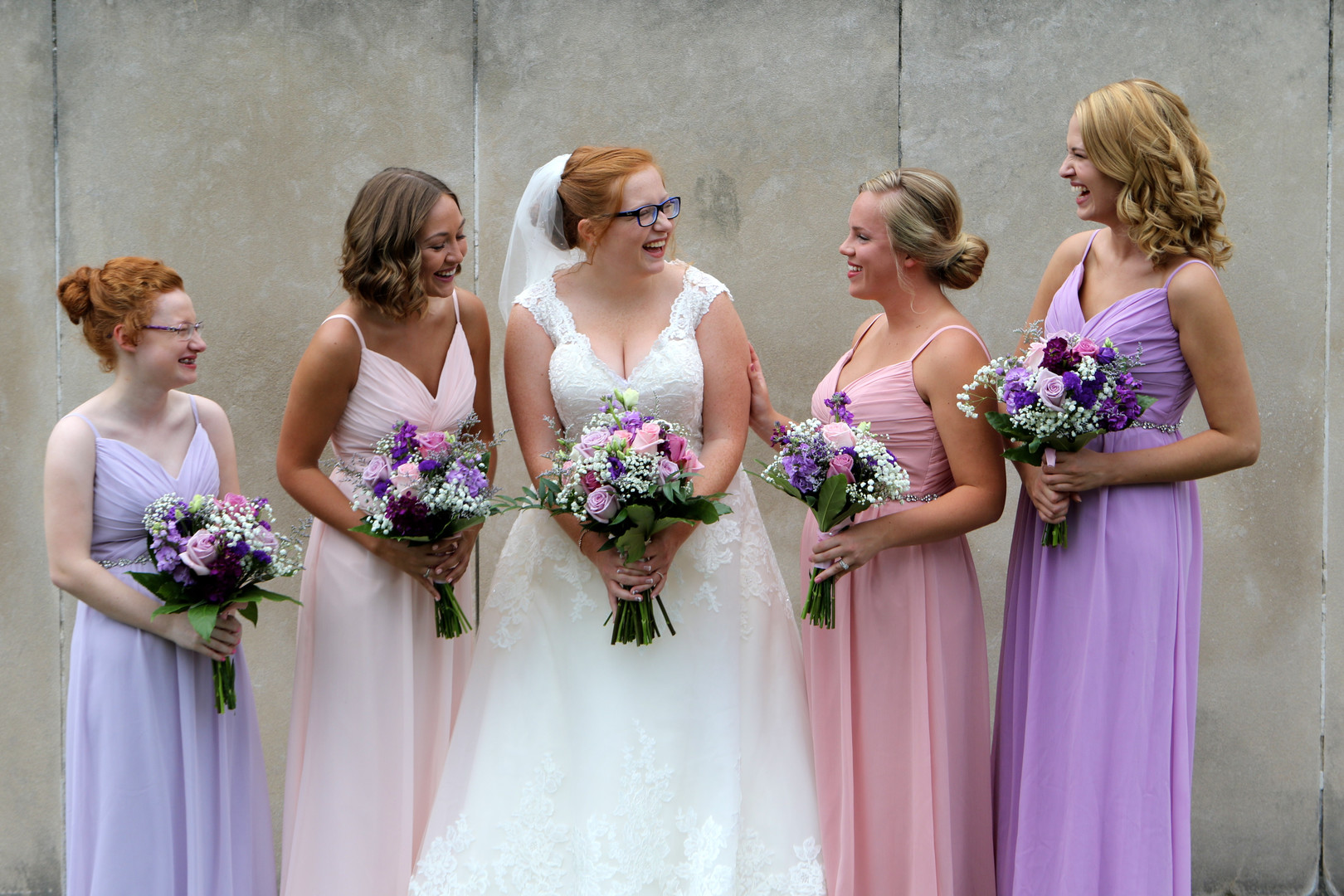 Pastel bridesmaids dresses: Pastel and luscious floral wedding inspiration captured by Messy Photography. See more wedding inspiration ideas at CHItheeWED.com!