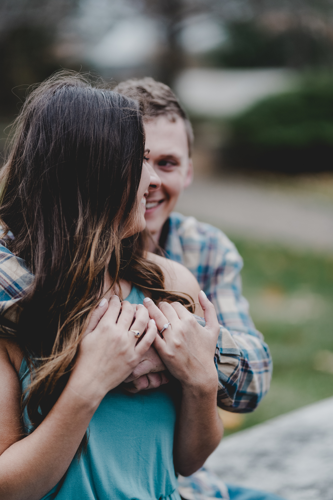 Cozy Chicago Lake Forest engagement session captured by Jenn Marie Photography. See more engagement photo ideas at CHItheeWED.com!