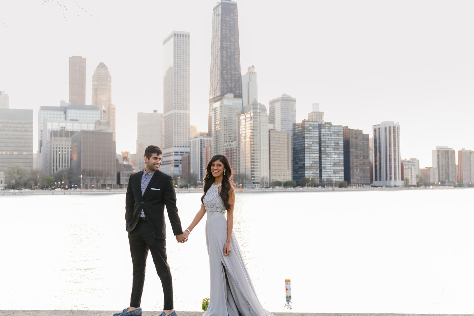 Intimate civil ceremony Chicago wedding in Olive Park captured by Janet D Photography. Find more wedding inspiration at CHItheeWED.com!