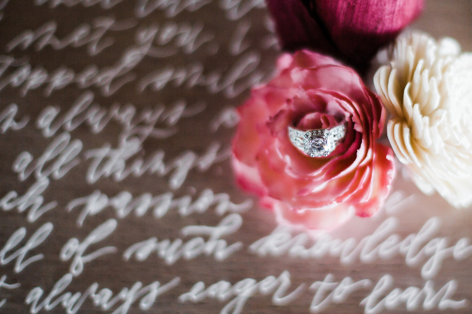 Engagement ring: Rustic barn wedding inspiration captured by Grace Rios Photography. See more fall wedding ideas at CHItheeWED.com!