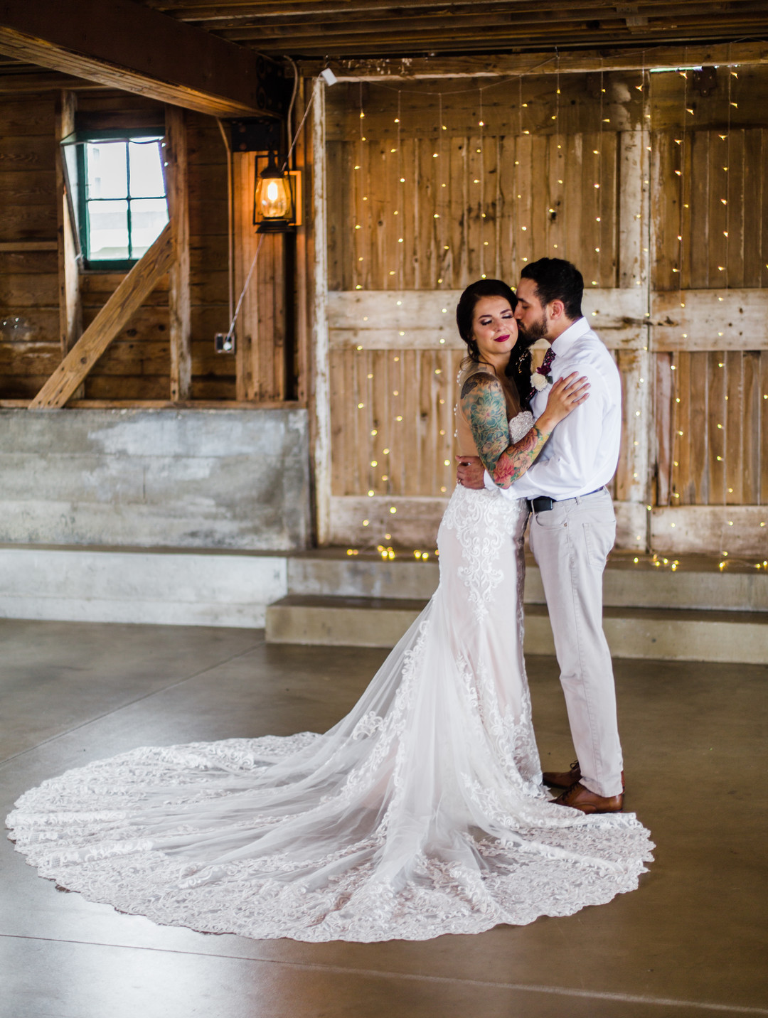Rustic barn wedding inspiration captured by Grace Rios Photography. See more fall wedding ideas at CHItheeWED.com!