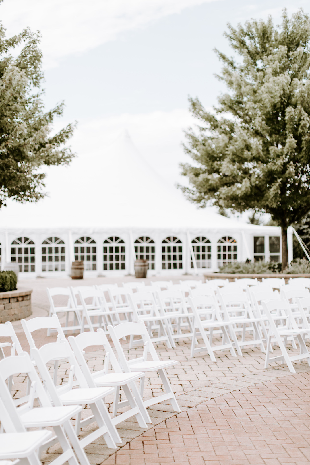 Outdoor wedding ceremony layout: Charming CD&ME outdoor wedding captured by Eiza Photography featured on CHI thee WED. Find more wedding inspiration at chitheewed.com!
