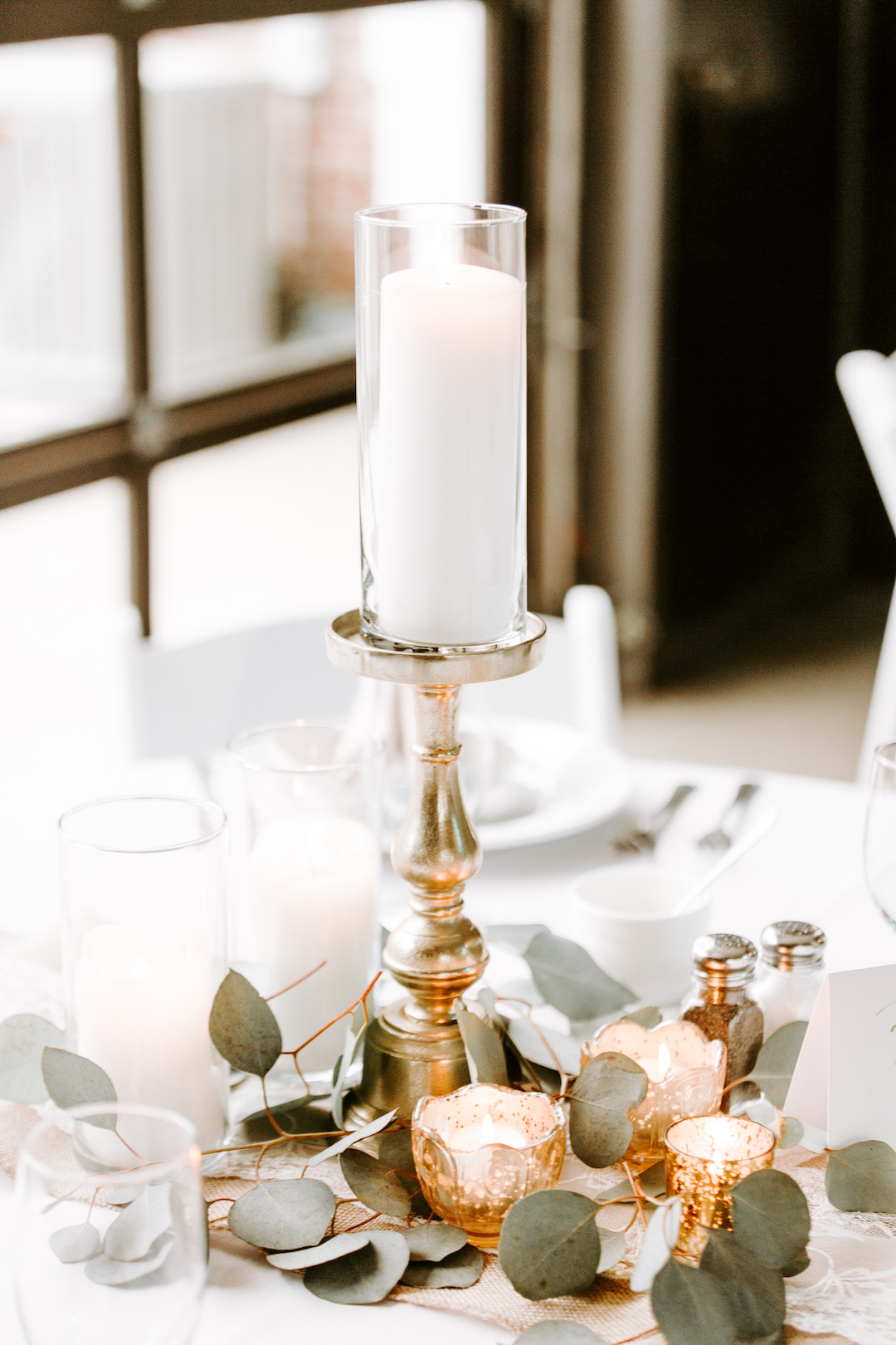 Candle wedding centerpieces: Charming CD&ME outdoor wedding captured by Eiza Photography featured on CHI thee WED. Find more wedding inspiration at chitheewed.com!