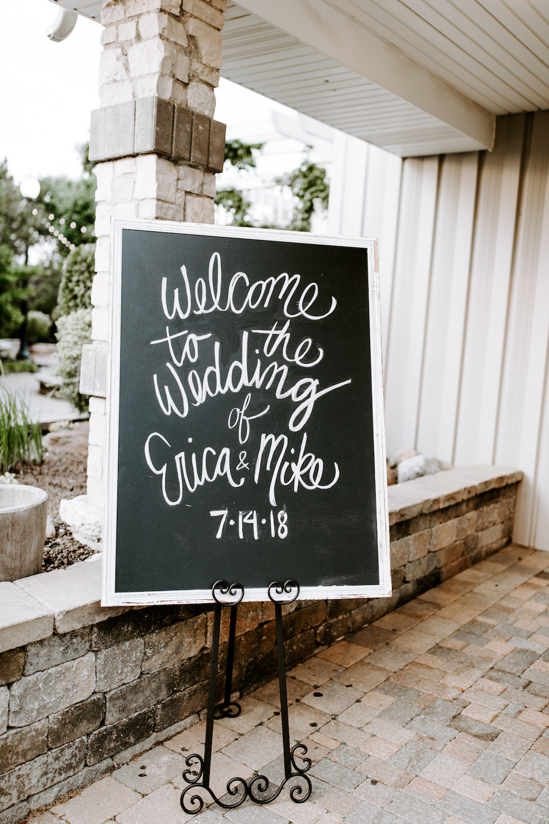 Chalkboard wedding sign: Charming CD&ME outdoor wedding captured by Eiza Photography featured on CHI thee WED. Find more wedding inspiration at chitheewed.com!