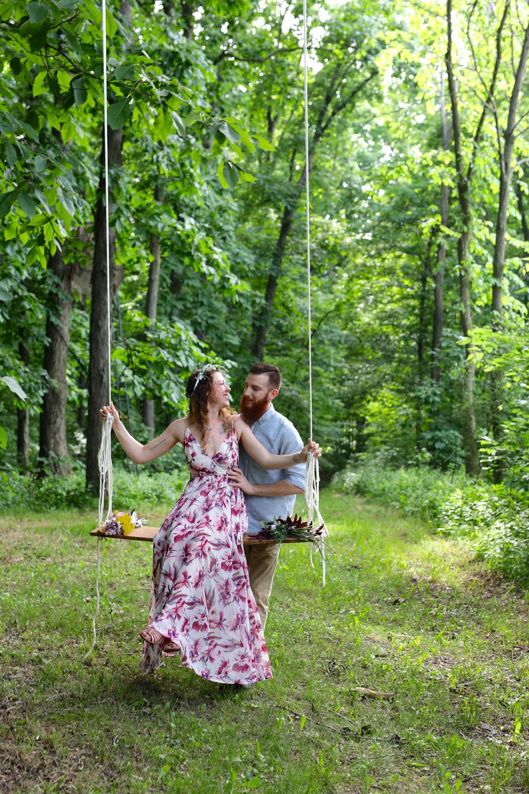 Romantic garden engagement session captured by Messy Photography. See more engagement photo ideas at CHItheeWED.com!