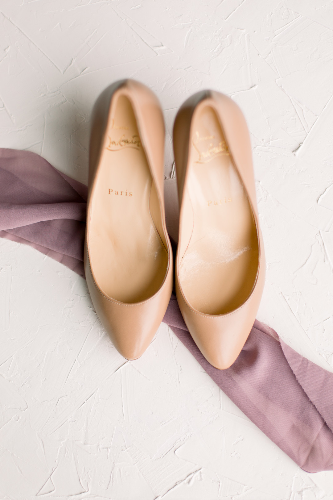 Louboutin wedding shoes: Spring wedding inspiration captured by Nicole Morisco Photography. Find more spring wedding ideas at CHItheeWED.com!