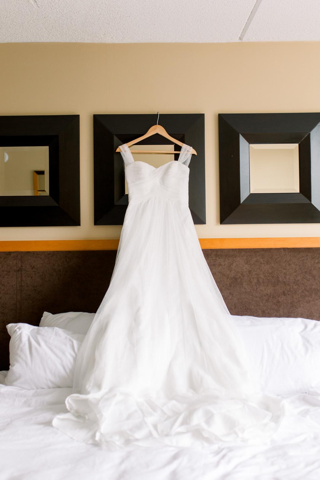 Elegant wedding dress: Spring wedding inspiration captured by Nicole Morisco Photography. Find more spring wedding ideas at CHItheeWED.com!
