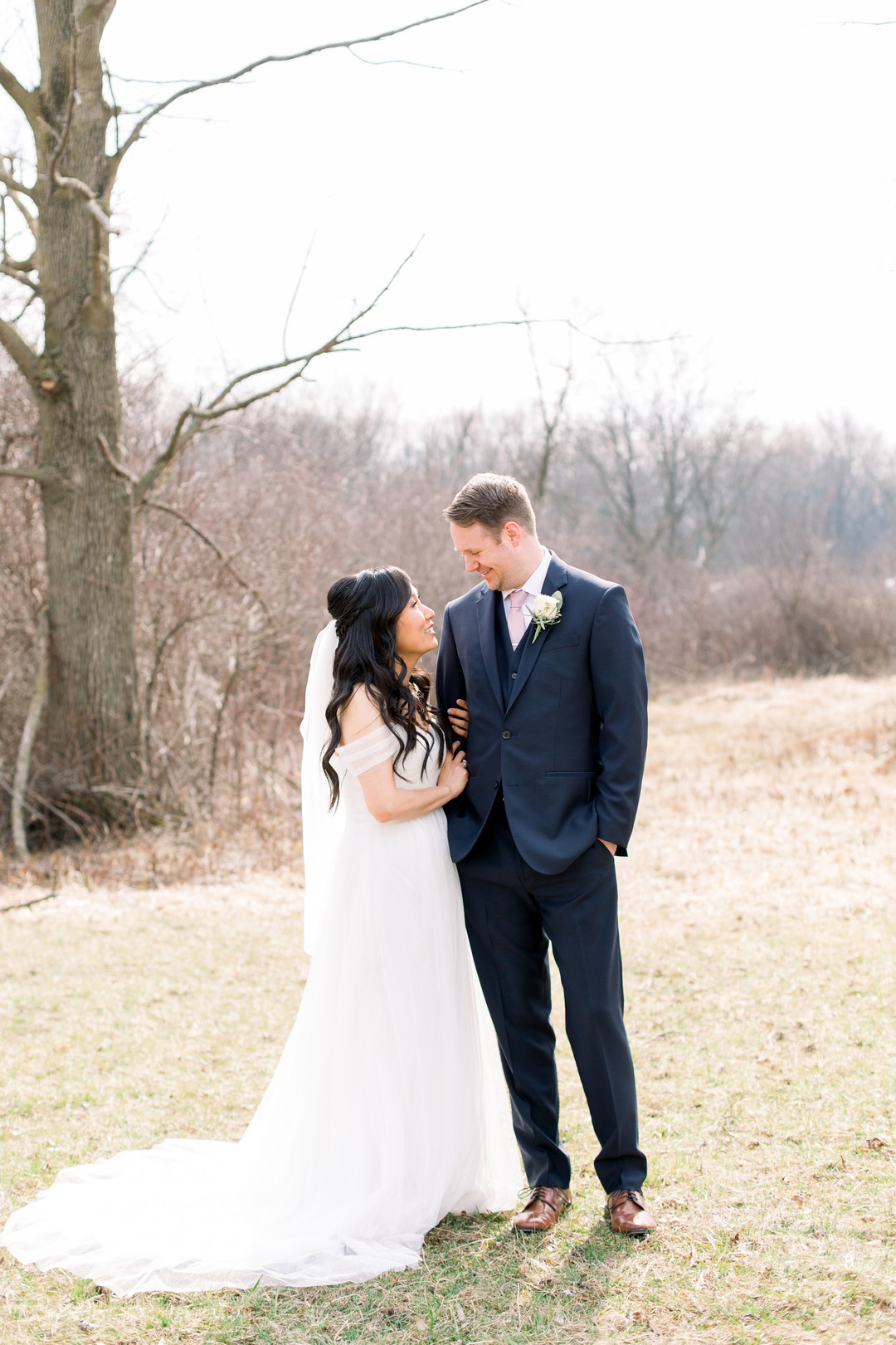 Wedding first look: Spring wedding inspiration captured by Nicole Morisco Photography. Find more spring wedding ideas at CHItheeWED.com!