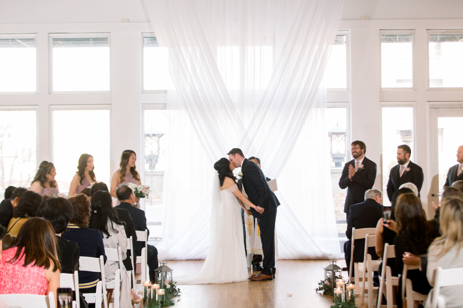 Wedding ceremony portrait: Spring wedding inspiration captured by Nicole Morisco Photography. Find more spring wedding ideas at CHItheeWED.com!