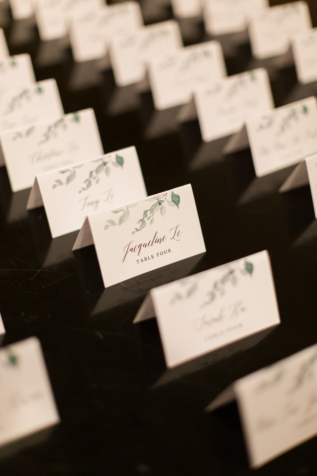 Wedding escort cards: Spring wedding inspiration captured by Nicole Morisco Photography. Find more spring wedding ideas at CHItheeWED.com!