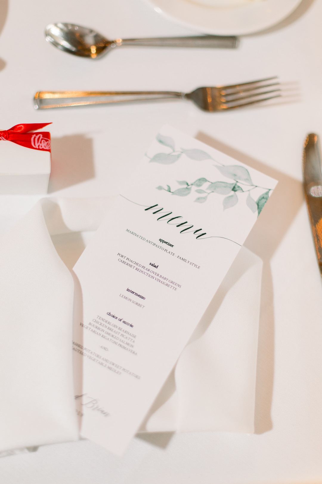 Wedding menu stationery: Spring wedding inspiration captured by Nicole Morisco Photography. Find more spring wedding ideas at CHItheeWED.com!